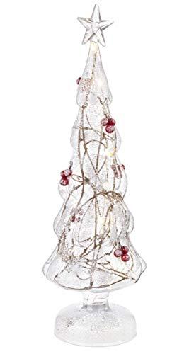 BIZZOTTO Albero di Natale in Vetro Trasparente con LED Interni