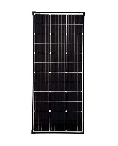 SolarV enjoysolar - Pannello solare monocristallino con celle PERC 110 Watt 12 V, Nero