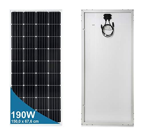 190 Watt 12 Volt Pannello Solare Monocristallino
