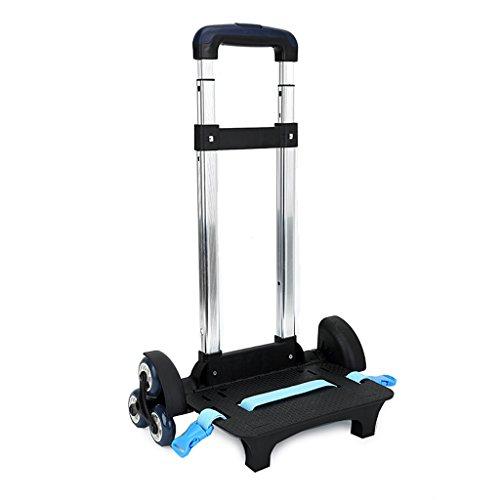 Carrello per zaino - Carrello con ruote Carrello in alluminio per carrello senza rotelle Lega di alluminio (blu, 6 ruote)