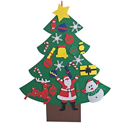 Fai da te feltro albero di Natale bambini decorazione di Natale per la casa Babbo Natale ornamento decorazione