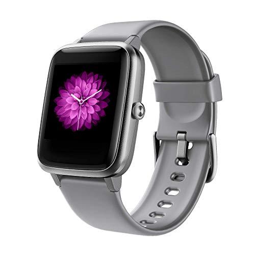 Smartwatch Uomo Donna, Orologio Fitness Activity Tracker Bluetooth 5.0 Impermeabile IP68 Touch Screen Controllo della musica Cardiofrequenzimetro da Polso Contapassi per Android iOS Samsung Huawei