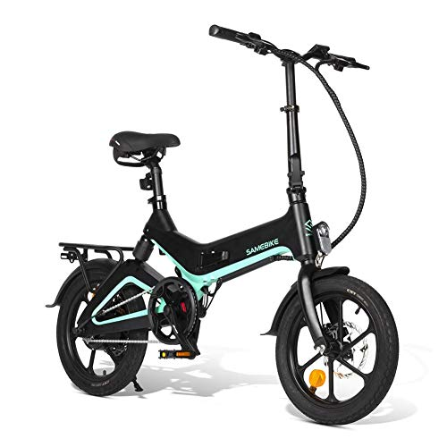 Bicicletta elettrica Pieghevole 16'Samebike, 36V 7.5Ah Batteria al Litio incorporata Bicicletta elettrica in Lega di magnesio