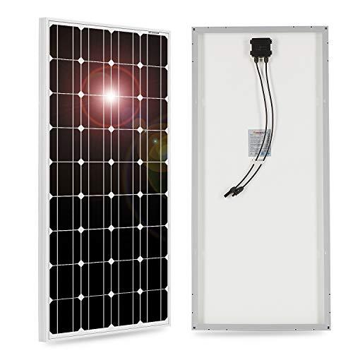 DOKIO - Pannello solare monocristallino, 100 W, 12 V, con cavo solare per camper, campeggio, giardino