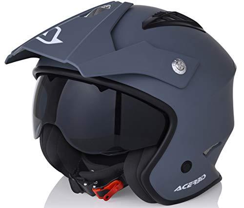 Acerbis Jet Aria, Casco Uomo, Grigio, M