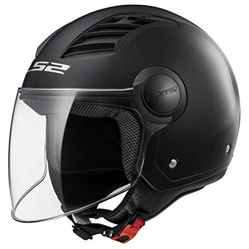LS2, casco moto jet Airflow nero opaco, M