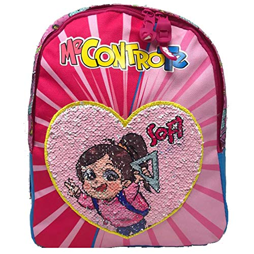 Me Contro Te Zainetto Asilo Rosa Lui e Sofi Con Girabrilla Pailettes 30x23x10 cm