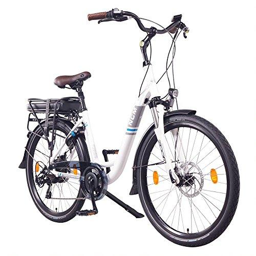 NCM Munich Bicicletta elettrica da Città, 36V 13Ah 468Wh 26' Bianco