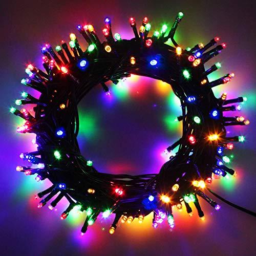 Cavo Verde Scuro Catena Luci A Led Luminoso Natalizia 1000 Leds 102.8m Luce Lucciole Con Controller 8 Funzioni Ideale Per Natale Compleanni Feste (Multicolor Colori)