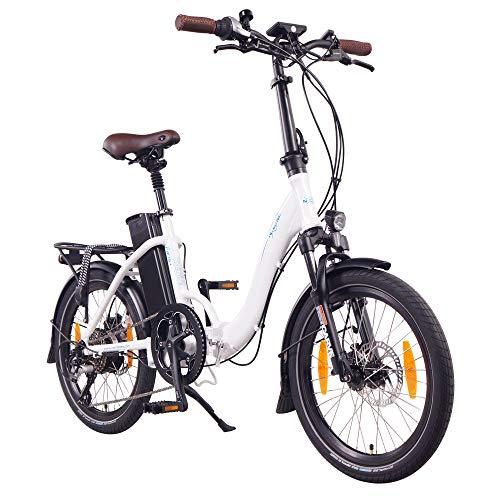 "NCM Paris+ 20"" Bicicletta elettrica Pieghevole, 36V 19Ah 684Wh Bianco"