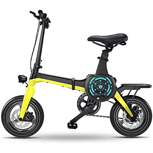 LPsweet Smart App - Bicicletta elettrica, Batteria agli ioni di Litio da 36 V, velocità variabile, Telaio in Alluminio Ultra Leggero, per Bambini, Giallo, L