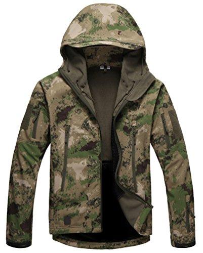 Kelmon, giacca da uomo con cappuccio, in tessuto softshell Green Large
