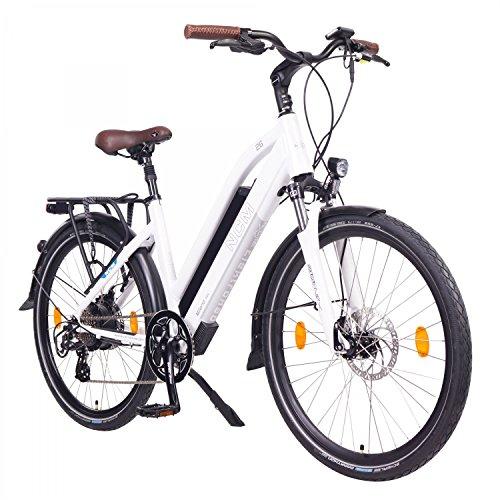NCM Milano Bicicletta elettrica da Trekking, 250W, Batería 48V 13Ah 624Wh 26' Nero