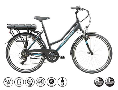 F.lli Schiano E- Light 2.0, Bicicletta elettrica Men's, Nera, 28''