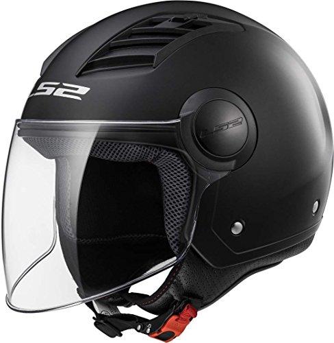 Ls2 Casco Moto Of562 Airflow, Gloss Black Long, L
