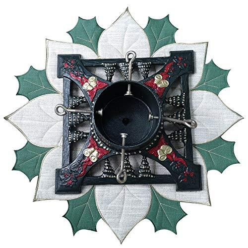 Halo - Base per albero di Natale, in ferro