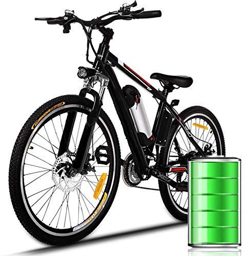 WJSW Bicicletta da 26 Pollici Bici elettrica Bicicletta in Lega di Alluminio 36V 8AH Batteria al Litio Mountain Ciclismo, 21 velocità