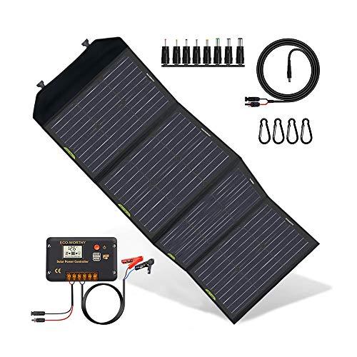 ECO-WORTHY Kit di Pannelli solari Pieghevoli Aggiornamento 120 W con Controller 20ACharge per Suaoki/Goal Zero Yeti/Rockpals Generatore Portatile di centrali elettriche Banca Batteria Dispositivi
